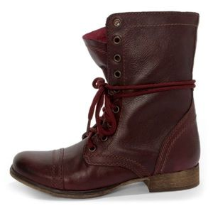 Steve Madden Wine Troopa Combat Boots
